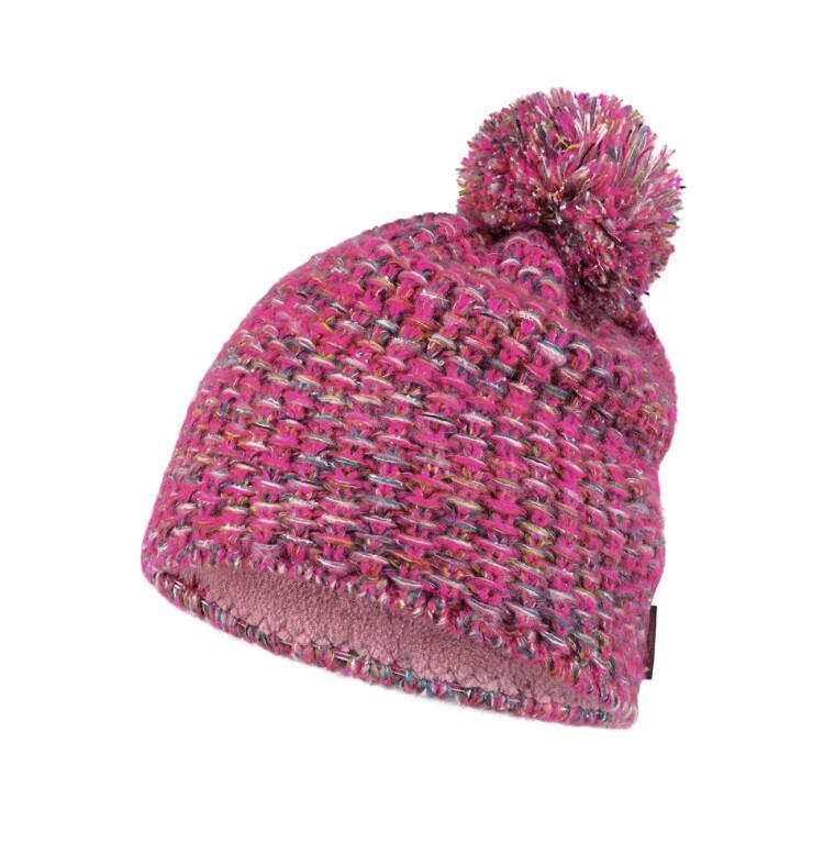 Buff, Grete Knitted/Fleece Hat, Pink