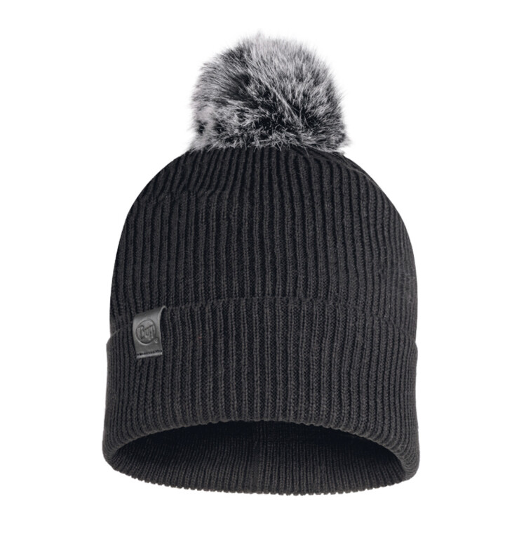 Buff, Kesha Knitted Hat, Black