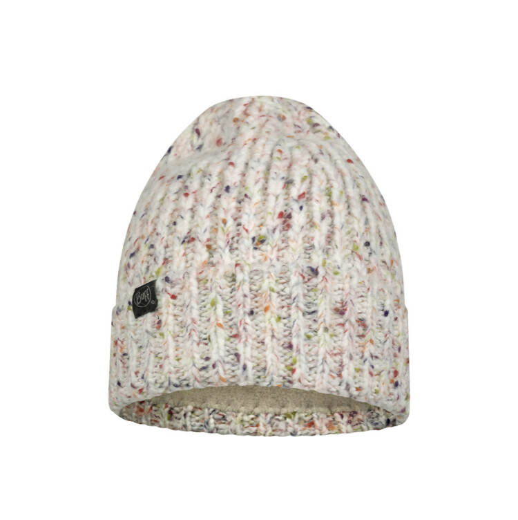 Buff, Kim Knitted/Fleece Hat, White