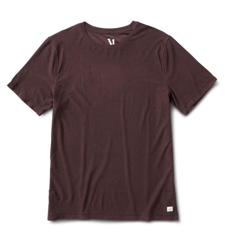 Vuori, Strato Tech Tee, Oxblood Heather