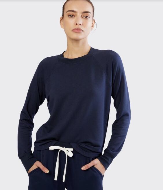 Splits59, Warmup Fleece Pullover, Indigo