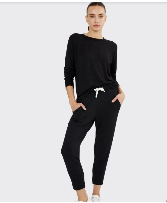 Splits59, Warmup Fleece Pullover, Black