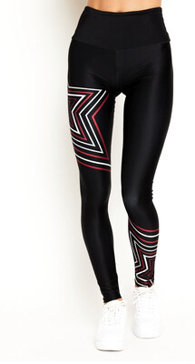Goldsheep, 7/8 Leggings, Black Flash Star