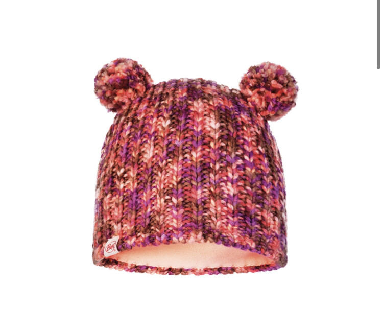 Buff, Child Knitted Fleece Hat, Lera, Pink