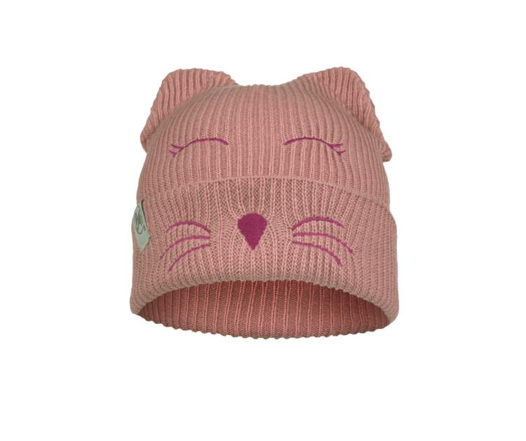Buff, Child Knitted Fleece Hat, Fun Cat