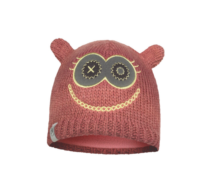 Buff, Child Knitted Fleece Hat, Monster, Pink