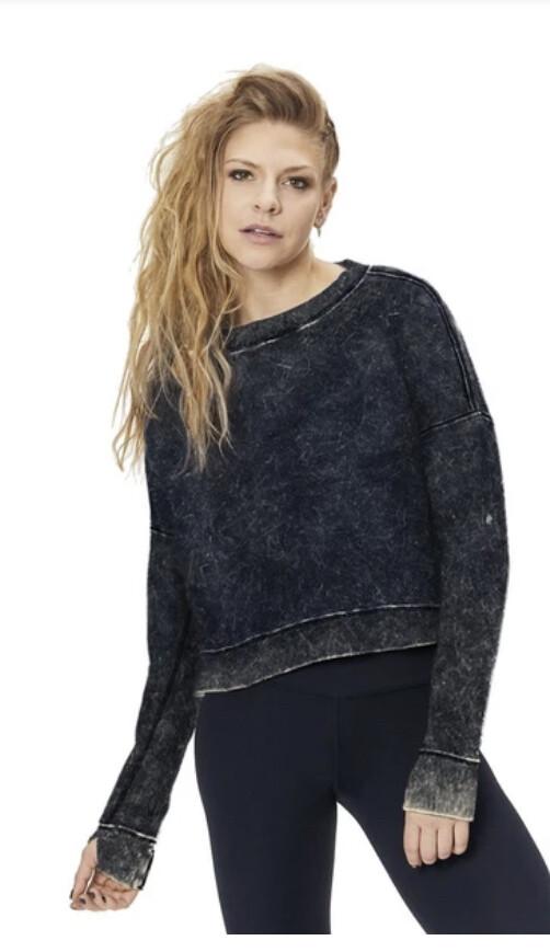 Nancy Rose, Althea Sweatshirt, Black/Grey Wash