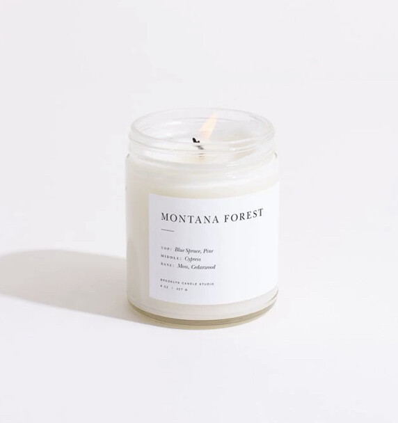 Brooklyn Candle, Minimalist, Montana Forest
