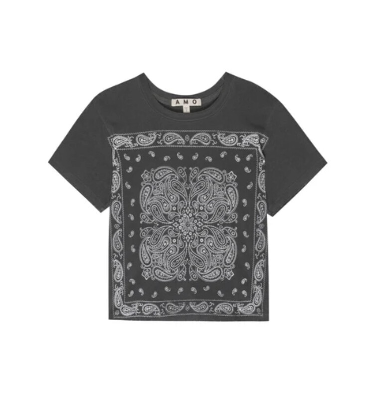 AMO Denim, Bandana Tee, Faded Black