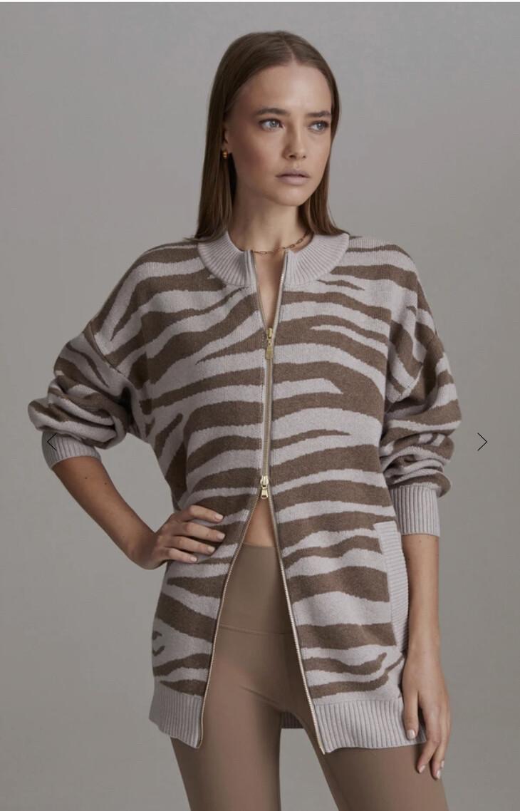 Varley, Mayberry Sweater, Cobweb Doe Zebra