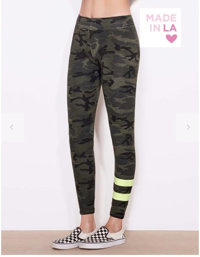 Sundry, Stripe Camo Yoga Pant, Olive