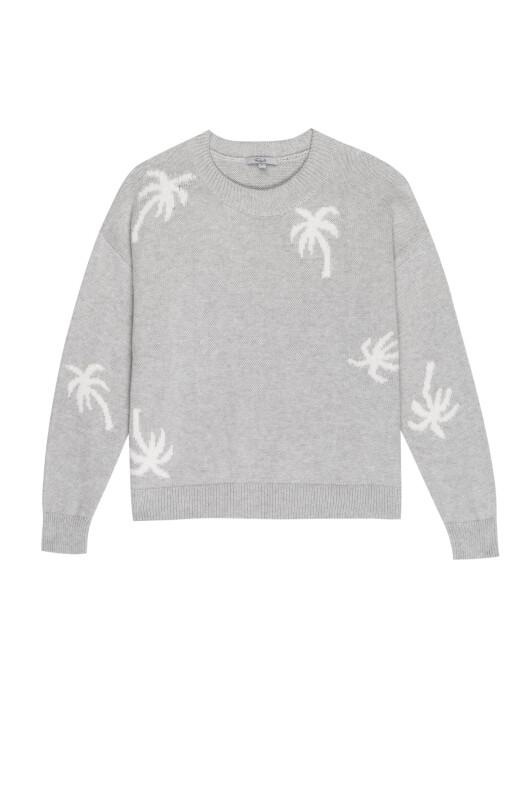 Rails, Perci Sweater, Heather Grey Palms