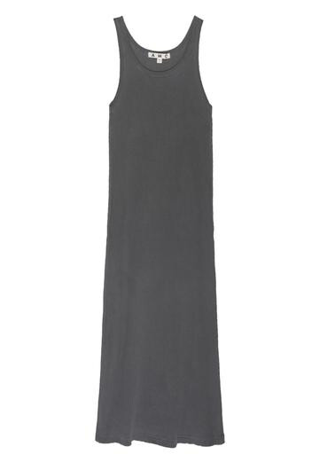 AMO Denim, Long Rib Tank Dress, Faded Black