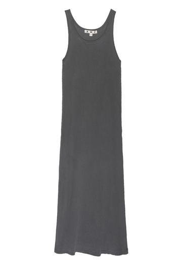 AMO Denim, Long Rib Tank Dress, Faded Black