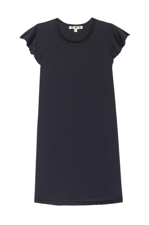AMO Denim, Flutter Tee Dress, Vintage Black