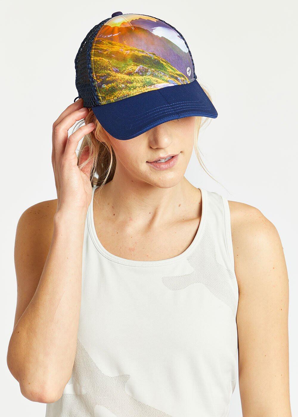 Oiselle, Runner Trucker Hat, Alpine Lake