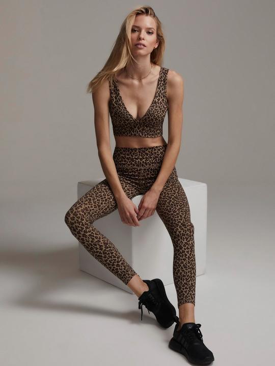 Varley, Century Legging, Coffee Cheetah