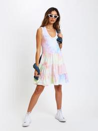 Sol Angeles, Tier Tank Dress, Watercolor