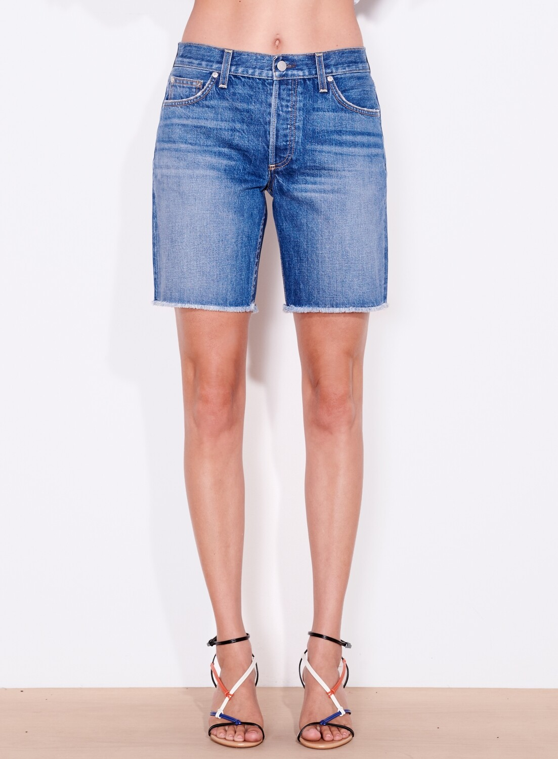 Sundry, Slouchy Short with Hearts, Dark Wash