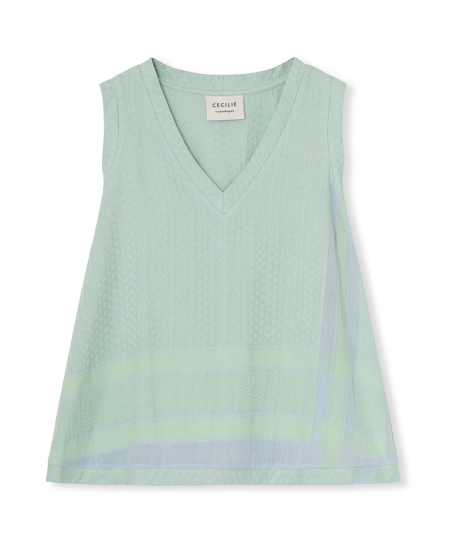 Cecilie Copenhagen, Shirt, V Neck, Sleeveless