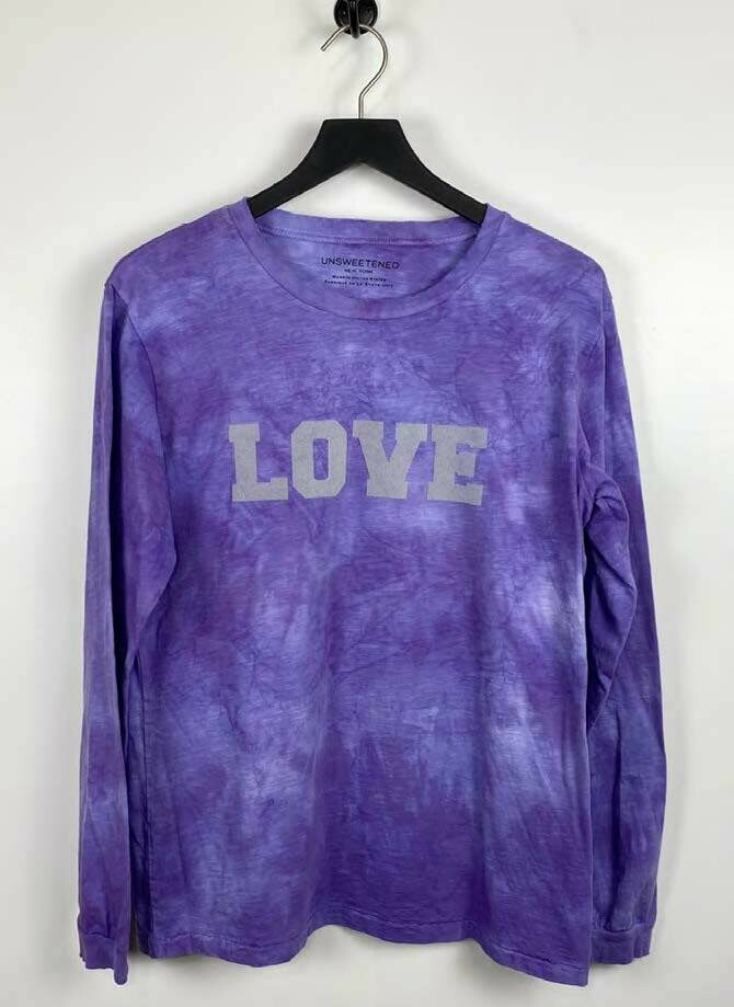 Unsweetened, Long Sleeve Tee, Love Orchid