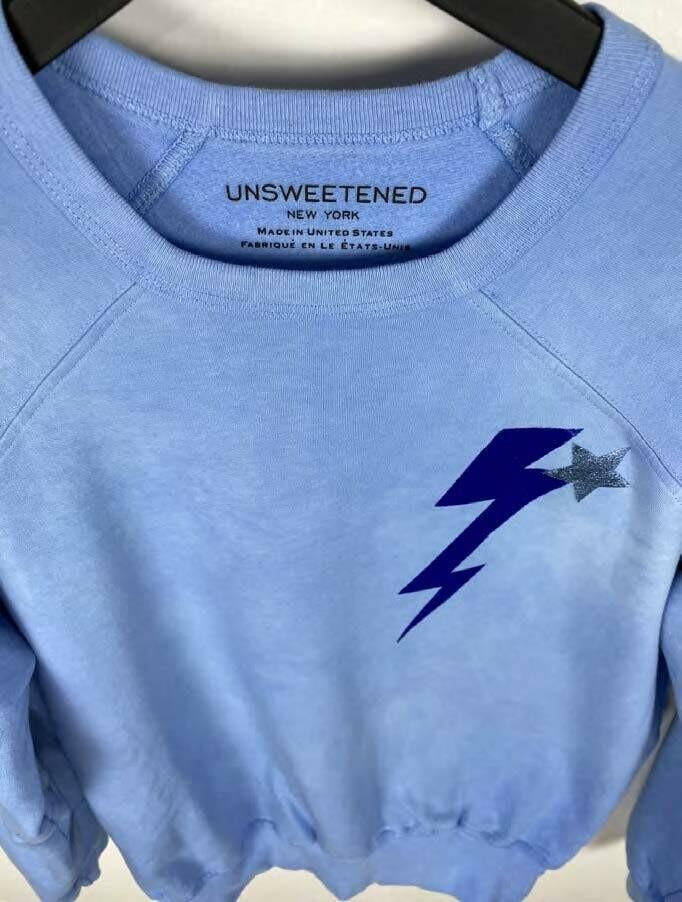 Unsweetened, L/S Sweatshirt, Bolt Lapis Crew
