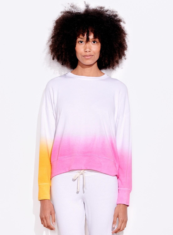 Sundry, DipDye Sweatshirt, Tangerine/Pink