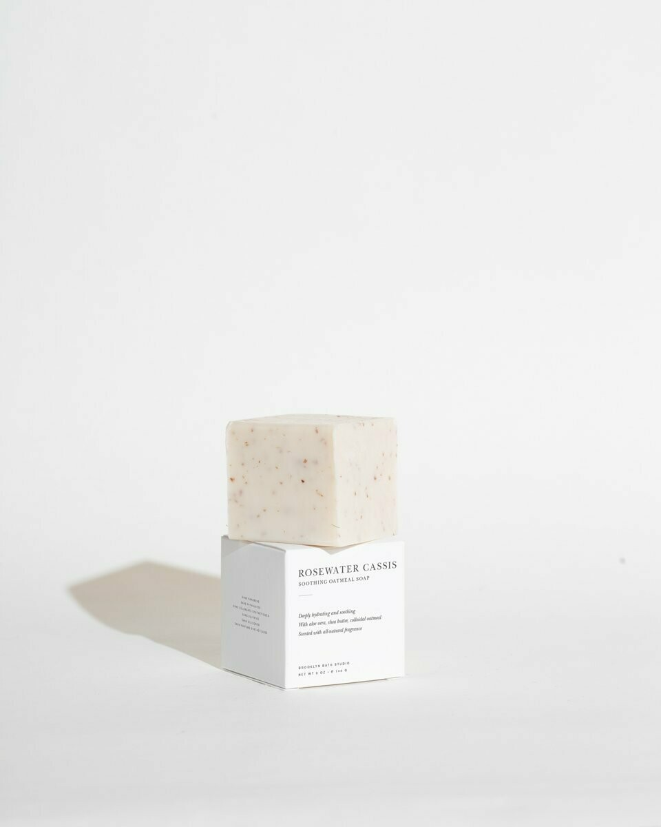 Brooklyn Candle, Soap Bar, Rosewater Cassis Oatmeal Soap