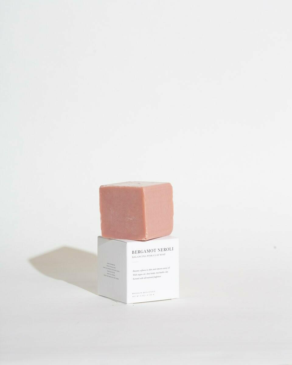 Brooklyn Candle, Soap Bar, Bergamot Neroli Pink Clay
