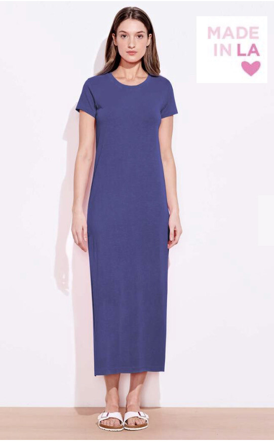 Sundry, Shortsleeve Maxi Dress, Deep Sea