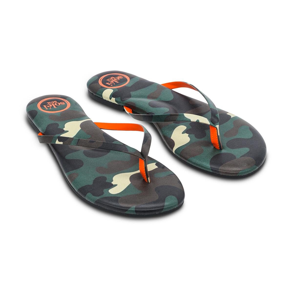 Solei Sea, Flip Flops, Green/Camo