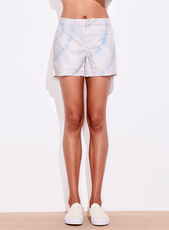 Sundry, Trouser Shorts, Aqua Tie Dye