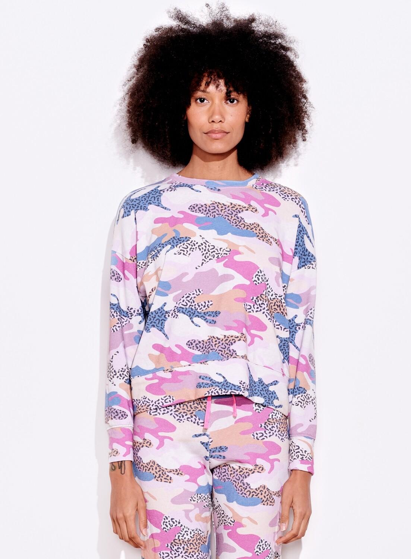 Sundry, Abstract Camo Sweatshirt, Pigment Paper