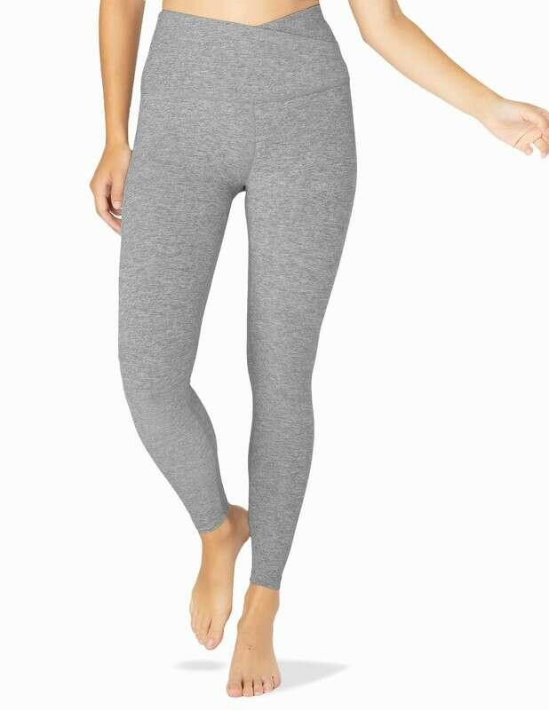 Beyond Yoga, SD3463, Leisure Midi Legging, Silver