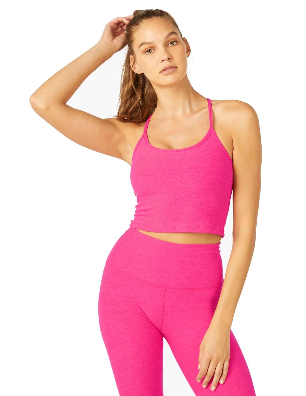 Beyond Yoga, SD4382, Cropped Tank, Electric Pink