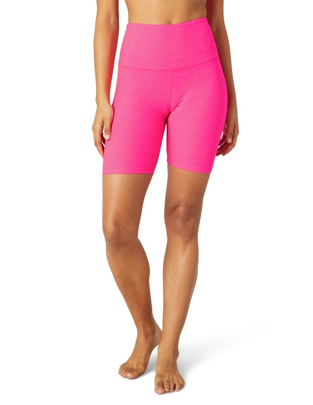 Beyond Yoga, SD5054, Biker Short, Electric Pink
