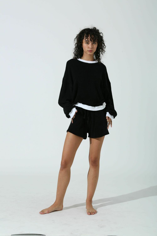 Electric and Rose, Lovett Sweatshirt, Onyx/Cloud