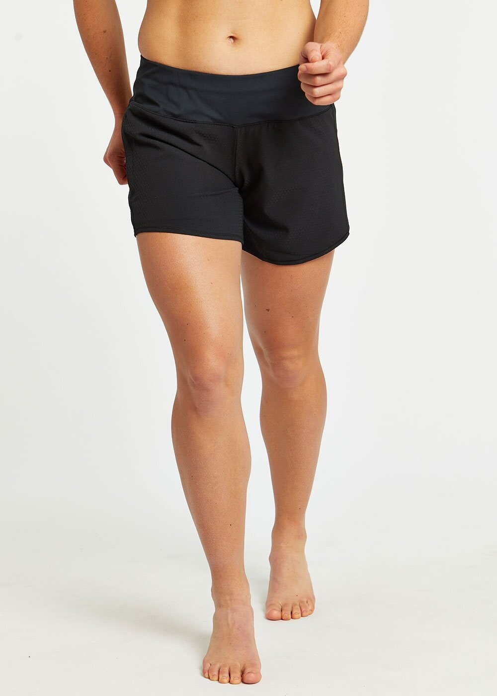 oiselle, long roga shorts