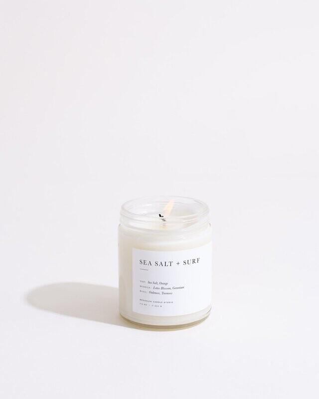 Brooklyn candle, Minimalist, Sea Salt & Surf