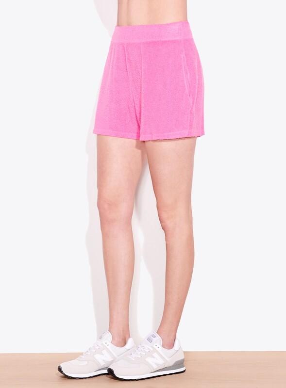 Sundry, Faux Sherpa Shorts, Hot Pink