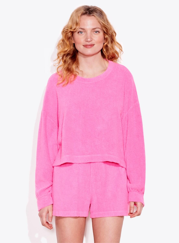 Sundry, Faux Sweatshirt Hot Pink