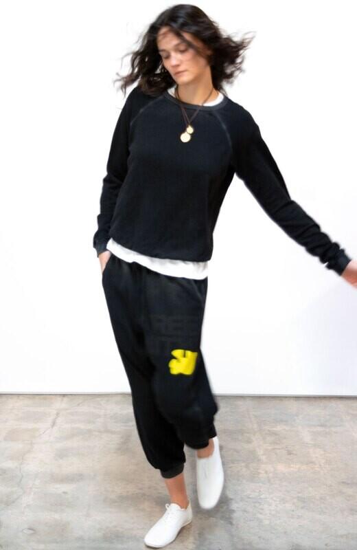 Free City, Lucky Rabbits Sweatshirt, Superblack