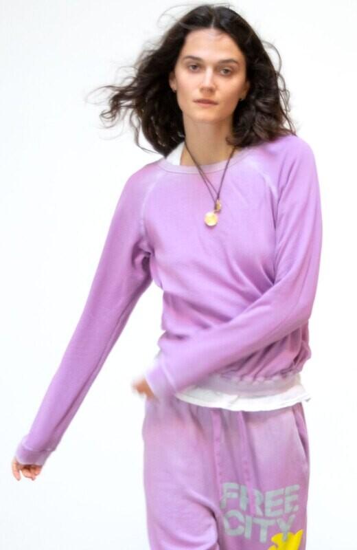 Free City, Lucky Rabbits Sweatshirt, PinkMilk