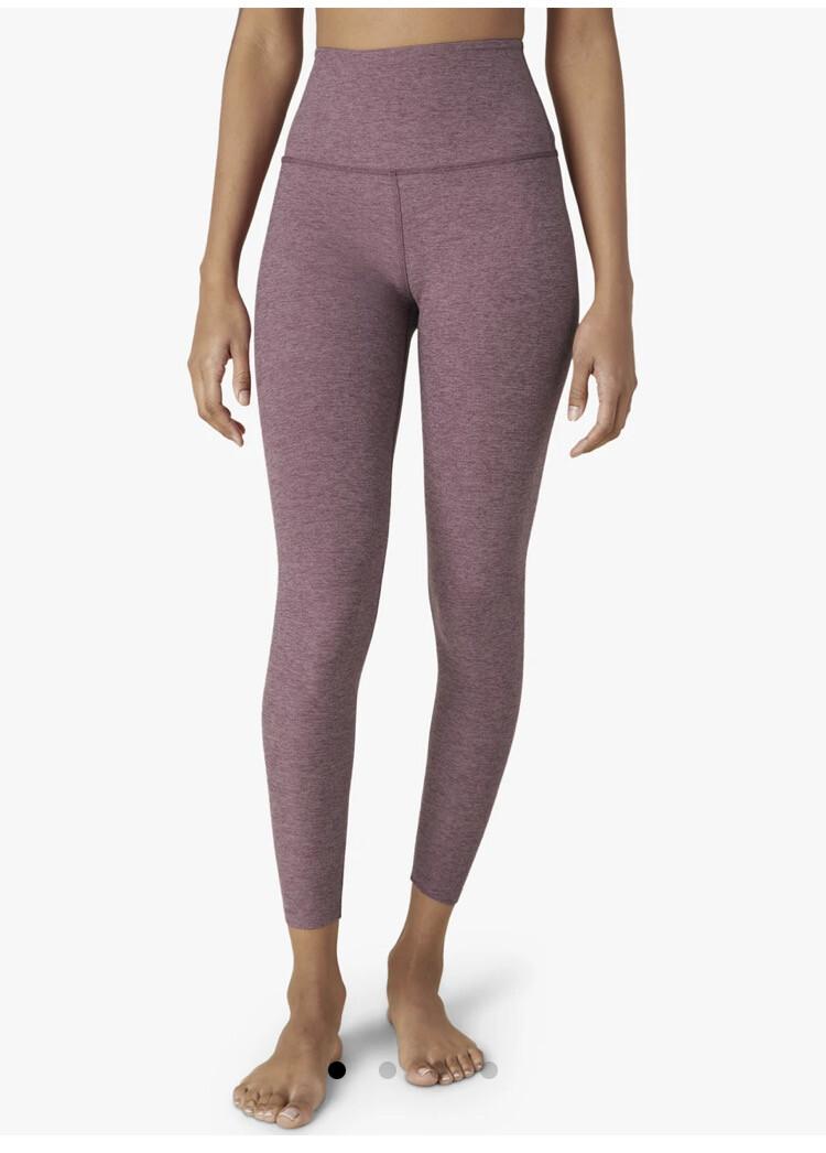 Beyond Yoga, SD3243, Midi Legging, Pale Plum