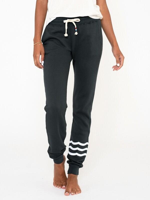 Sol Angeles, Women's Waves Jogger, Vintage Black