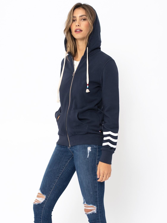 Sol Angeles, Women's ESS Zip Hoodie, Indigo