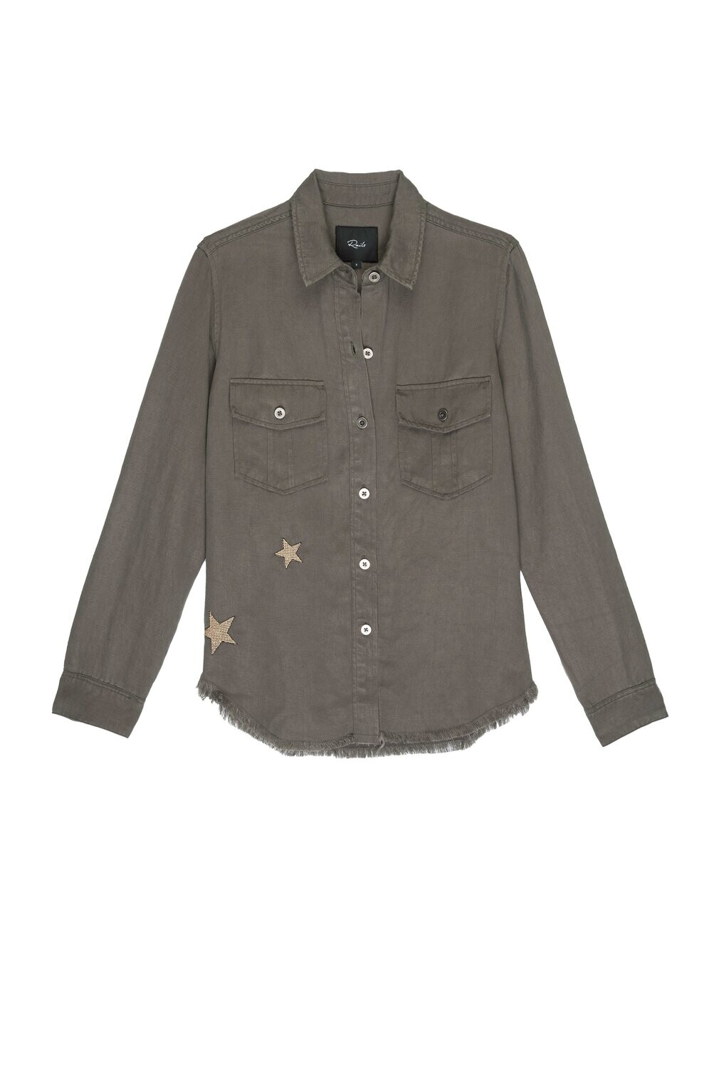 Rails, Loren, Olive Gold Star Embroidery
