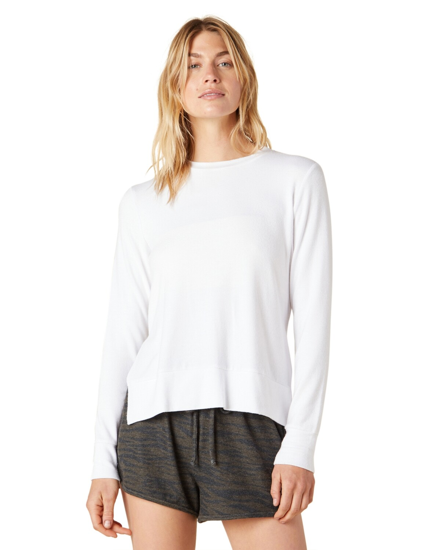Beyond Yoga, NH7781, Side Slit Pullover, White