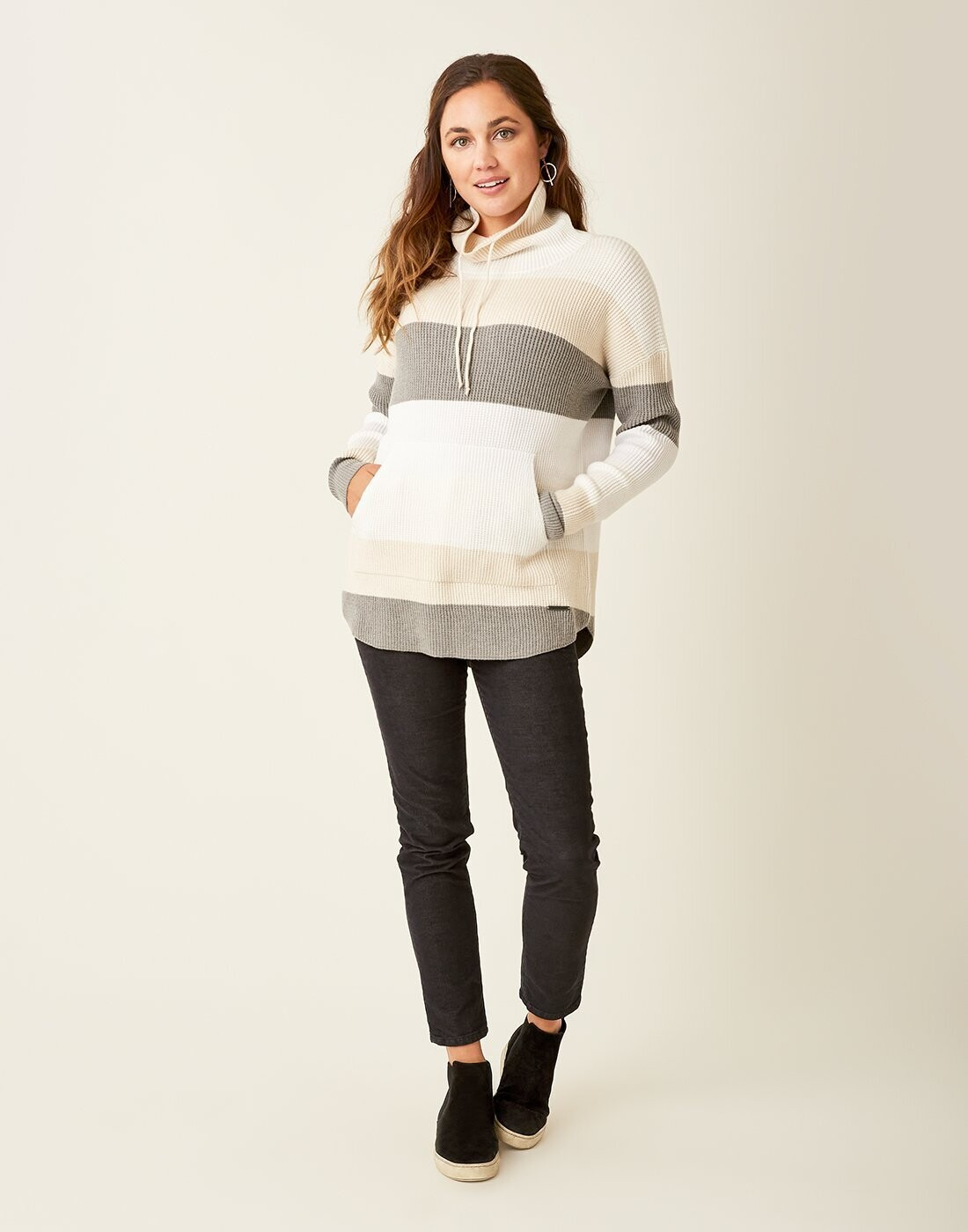 Carve Designs, Rockvale Sweater, Birch Bold Stripe