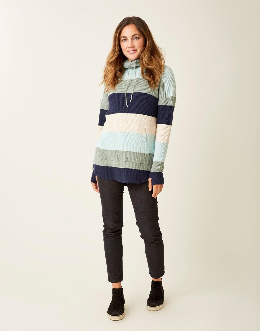 Carve Designs, Rockvale Sweater, Thyme Bold Stripe